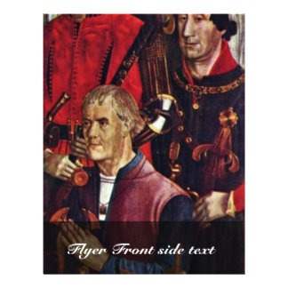 Vincent Altar Wing: The Knight With Kneeling Patro 21.5 Cm X 28 Cm Flyer