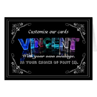 Vincent -  Name in Lights greeting card (Photo)