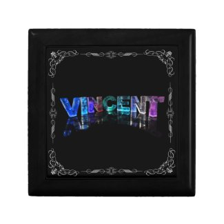 Vincent - The Name Vincent in 3D Lights (Photogra Gift Box
