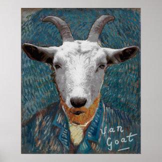 Vincent Van Goat Self-Portrait Painting Art Poster