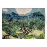 vincent van gogh (1853-1890) - the olive trees (18 greeting card