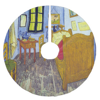 Vincent van Gogh 1888 The Bedroom At Arles Brushed Polyester Tree Skirt