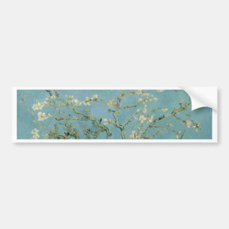 Vincent Van Gogh Almond Blossom Floral Painting Bumper Sticker