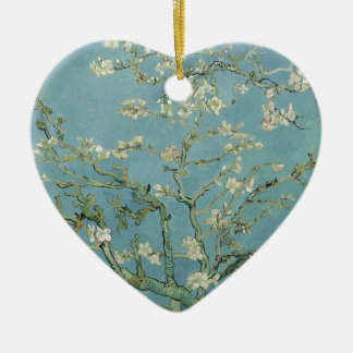 Vincent Van Gogh Almond Blossom Floral Painting Ceramic Heart Decoration