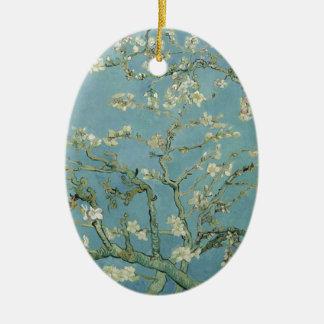 Vincent Van Gogh Almond Blossom Floral Painting Ceramic Oval Decoration