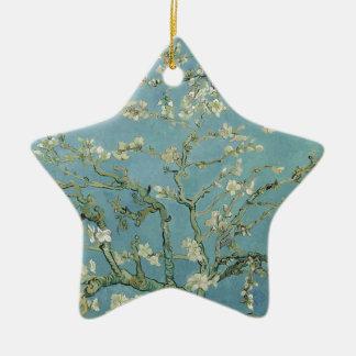 Vincent Van Gogh Almond Blossom Floral Painting Ceramic Star Decoration