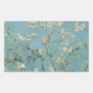 Vincent Van Gogh Almond Blossom Floral Painting Rectangular Sticker