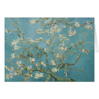 vincent van gogh, almond blossoms card
