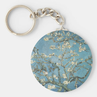 Vincent van Gogh | Almond branches in bloom, 1890 Basic Round Button Key Ring