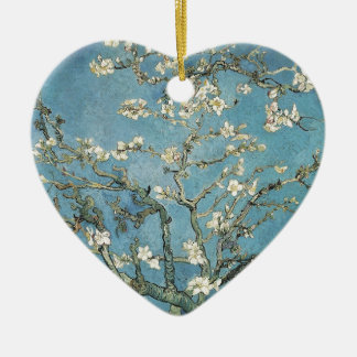 Vincent van Gogh | Almond branches in bloom, 1890 Ceramic Heart Decoration