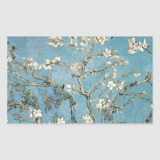 Vincent van Gogh | Almond branches in bloom, 1890 Rectangular Sticker