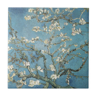 Vincent van Gogh | Almond branches in bloom, 1890 Small Square Tile