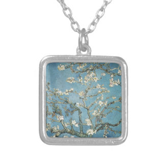 Vincent van Gogh | Almond branches in bloom, 1890 Square Pendant Necklace