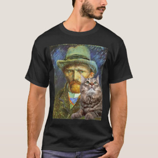 Vincent van Gogh and his cat T-Shirt
