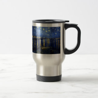 Vincent Van Gogh and Starry Night Over the Rhone Stainless Steel Travel Mug