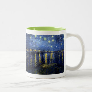 Vincent Van Gogh and Starry Night Over the Rhone Two-Tone Mug