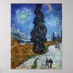 Vincent Van Gogh Art Print Country Road Provence