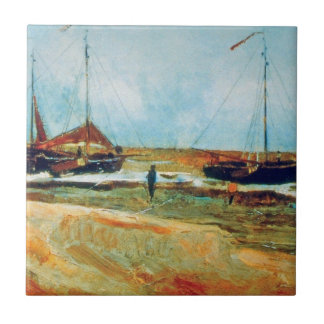Vincent Van Gogh - Beach at Scheveningen Fine Art Small Square Tile