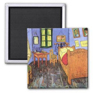 Vincent Van Gogh - Bedroom In Arles Fine Art Square Magnet