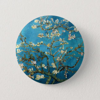 Vincent van Gogh, Blossoming Almond Tree 6 Cm Round Badge