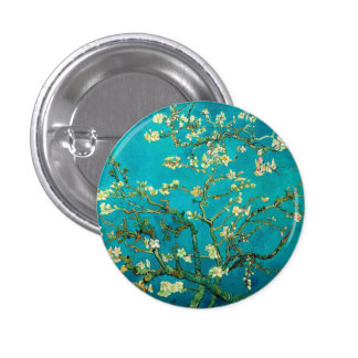 Vincent Van Gogh Blossoming Almond Tree Branches 3 Cm Round Badge