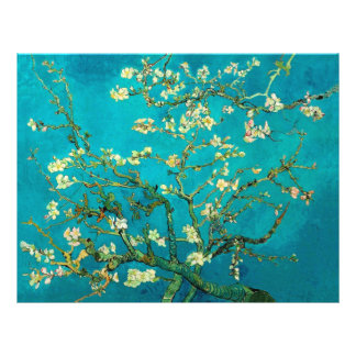Vincent Van Gogh Blossoming Almond Tree Floral Art 21.5 Cm X 28 Cm Flyer