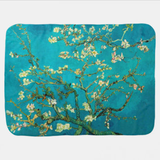 Vincent Van Gogh Blossoming Almond Tree Floral Art Baby Blanket