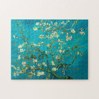 Vincent Van Gogh Blossoming Almond Tree Floral Art Jigsaw Puzzle