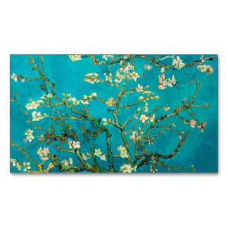 Vincent Van Gogh Blossoming Almond Tree Floral Art Magnetic Business Cards (Pack Of 25)