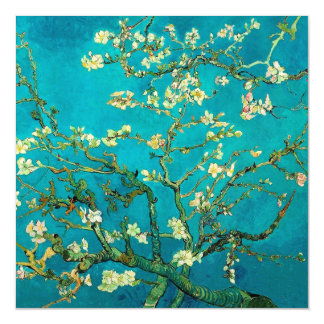 Vincent Van Gogh Blossoming Almond Tree Floral Art Magnetic Invitations
