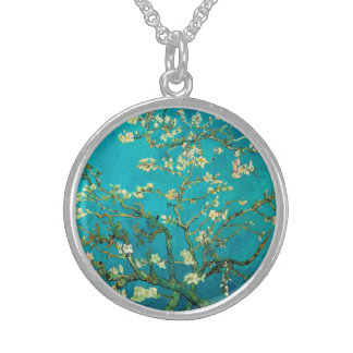 Vincent Van Gogh Blossoming Almond Tree Floral Art Custom Necklace