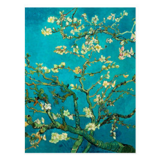 Vincent Van Gogh Blossoming Almond Tree Floral Art Postcard