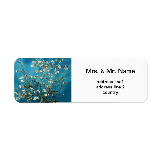 Vincent van Gogh, Blossoming Almond Tree Return Address Label