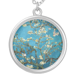 Vincent van Gogh, Blossoming Almond Tree Silver Plated Necklace
