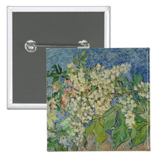 Vincent van Gogh | Blossoming Chestnut Branches 15 Cm Square Badge