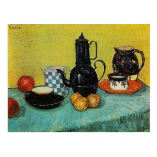 Vincent van Gogh Blue Enamel Coffee Pot Postcard