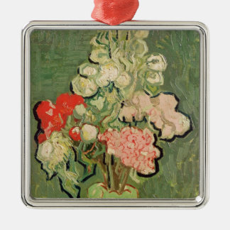 Vincent van Gogh | Bouquet of flowers, 1890 Silver-Colored Square Decoration