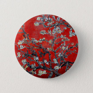 Vincent van Gogh Branches with Almond Blossom 6 Cm Round Badge
