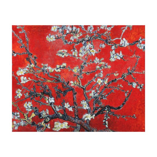 Vincent van Gogh Branches with Almond Blossom Canvas Print