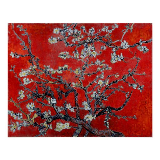 Vincent van Gogh Branches with Almond Blossom Posters