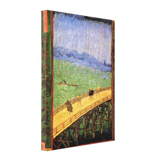 Vincent Van Gogh - Bridge In The Rain Japanese Art Canvas Print