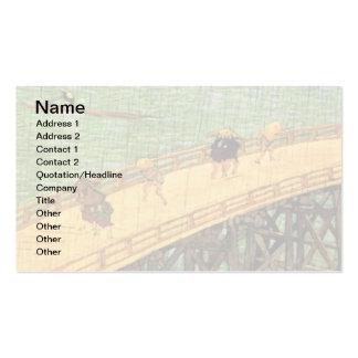 Vincent Van Gogh - Bridge In The Rain Japanese Art Pack Of Standard Business Cards