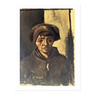 Vincent van Gogh   Bust of a Peasant, 1884 Postcard