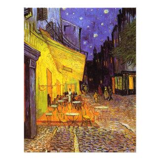 Vincent Van Gogh Cafe Terrace At Night Fine Art Custom Flyer