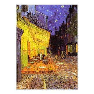 "Vincent Van Gogh Cafe Terrace At Night Fine Art 4.5"" X 6.25"" Invitation Card"