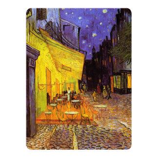 "Vincent Van Gogh Cafe Terrace At Night Fine Art 6.5"" X 8.75"" Invitation Card"