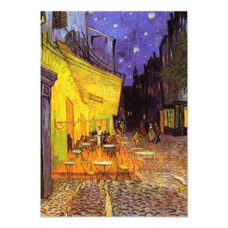 "Vincent Van Gogh Cafe Terrace At Night Fine Art 5"" X 7"" Invitation Card"