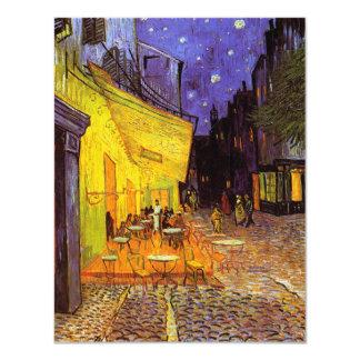 "Vincent Van Gogh Cafe Terrace At Night Fine Art 4.25"" X 5.5"" Invitation Card"