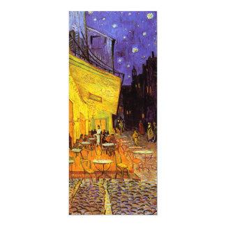 "Vincent Van Gogh Cafe Terrace At Night Fine Art 4"" X 9.25"" Invitation Card"