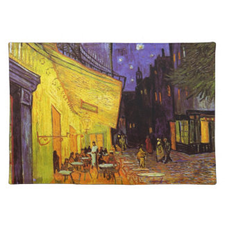 Vincent Van Gogh Cafe Terrace At Night Fine Art Placemat